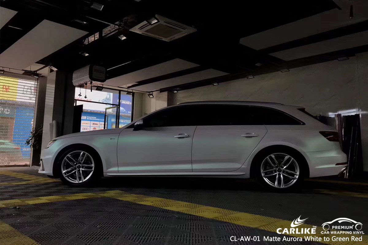 CL-AW-01 matte aurora white to green red car vinyl wrap for AUDI Timor-Leste
