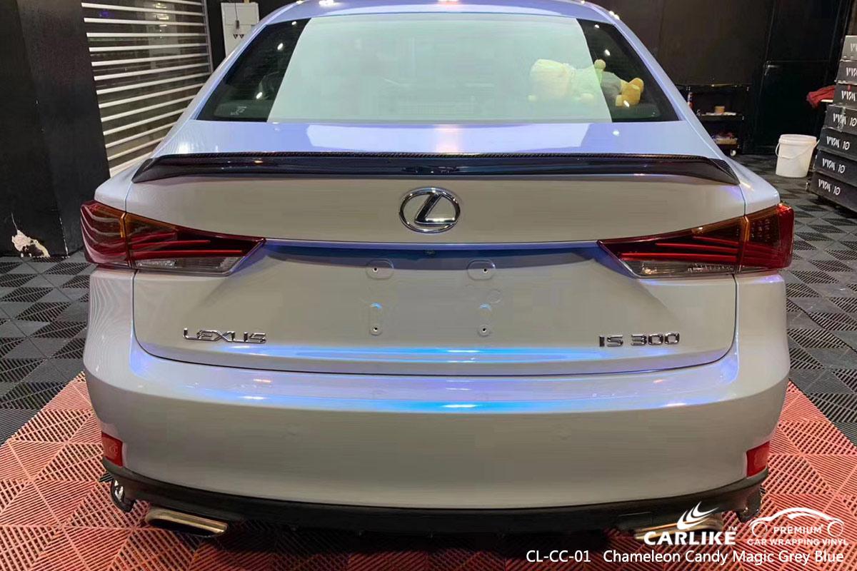 CL-CC-01 chameleon candy magic grey blue car foil vinyl films for LEXUS Samoa