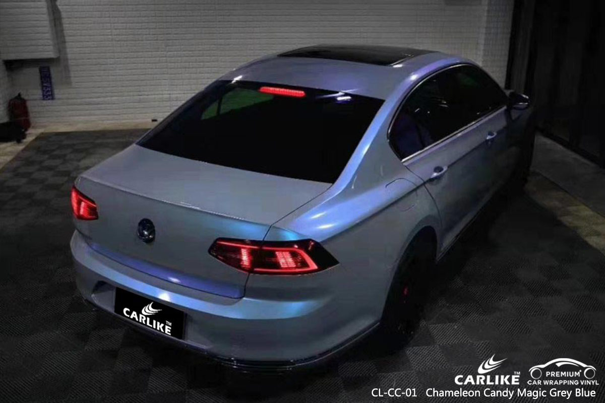 CL-CC-01 chameleon candy magic grey blue auto car vinyl films for VOLKSWAGEN Gabon