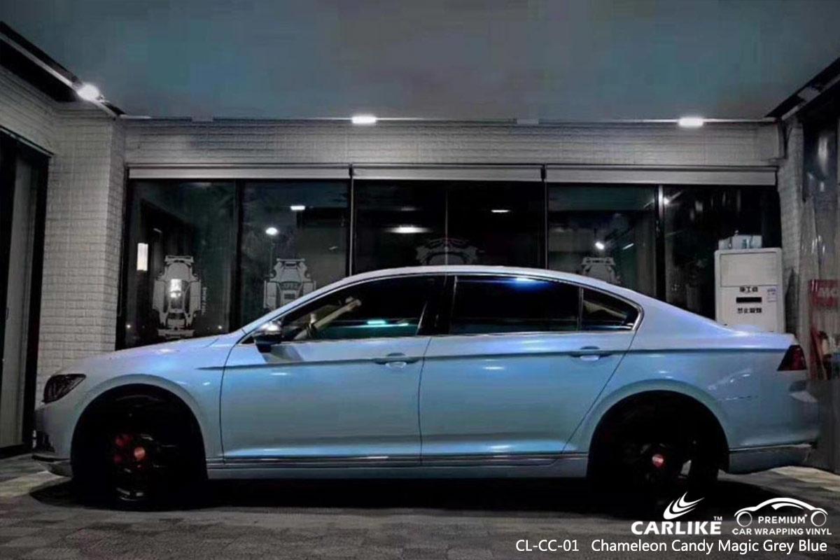 CL-CC-01 chameleon candy magic grey blue auto car vinyl films for VOLKSWAGEN Gabon