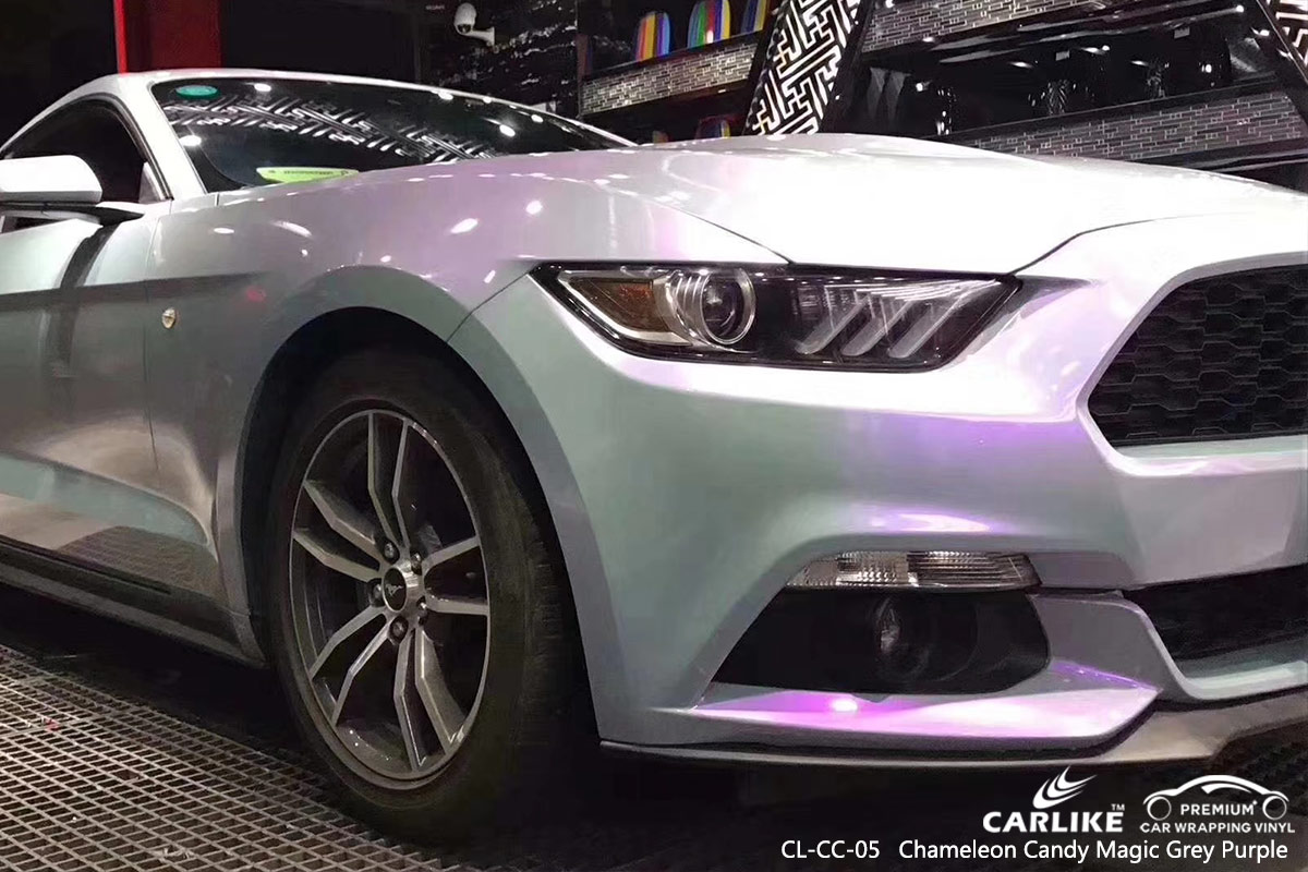 CL-CC-05 chameleon candy magic grey purple auto car wrap film for FORD MUSTANG Andorra
