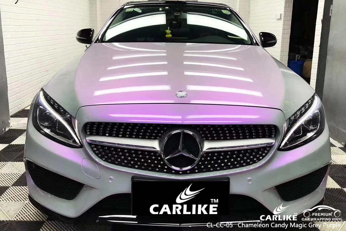 CL-CC-05 chameleon candy magic grey purple auto car vinyl wrapping for MERCEDES-BENZ Cook Islands