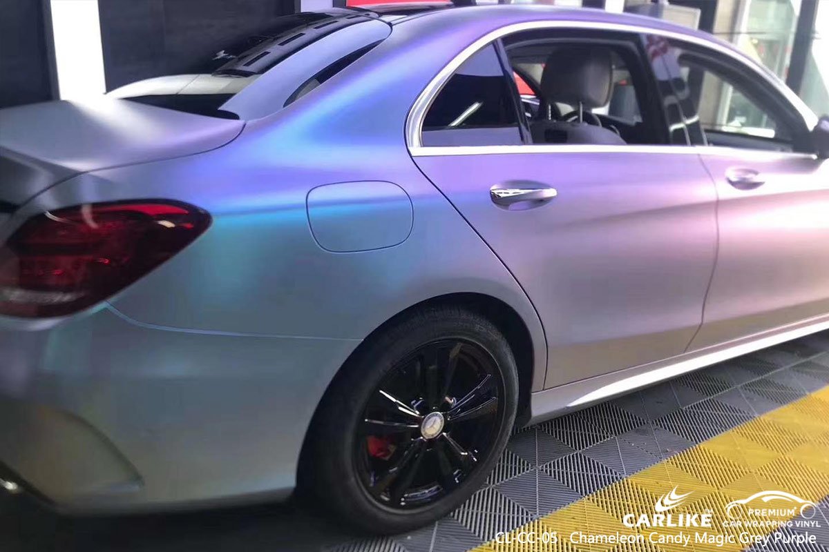 CL-CC-05 chameleon candy magic grey purple auto body wrap car supplier for MERCEDES-BENZ Andorra