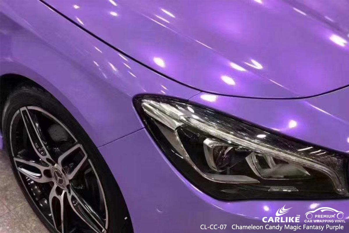 CL-CC-07 chameleon candy magic fantasy purple vehicle car vinyl wrap gloss for MERCEDES-BENZ Burundi
