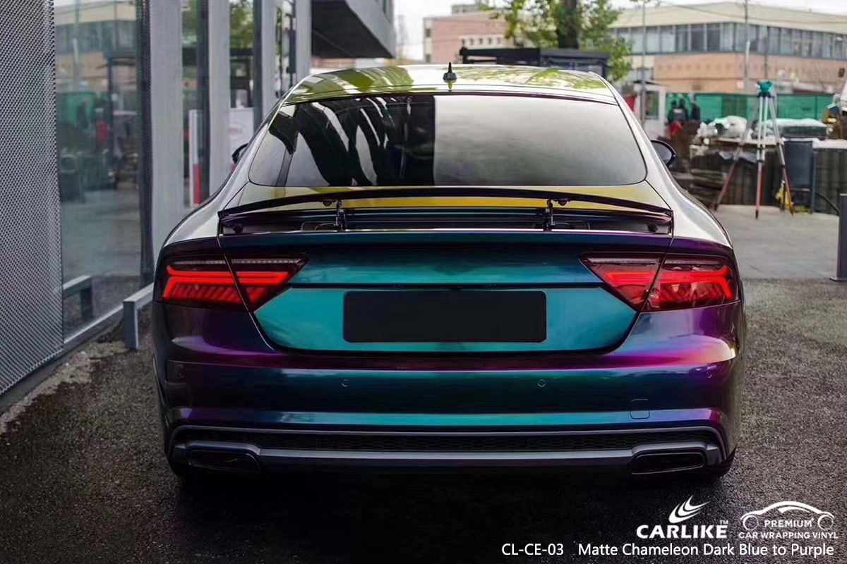 Cl Ce 03 Matte Chameleon Dark Blue To Purple Car Wrap Vinyl For Audi Cape Verde Sino Vinyl