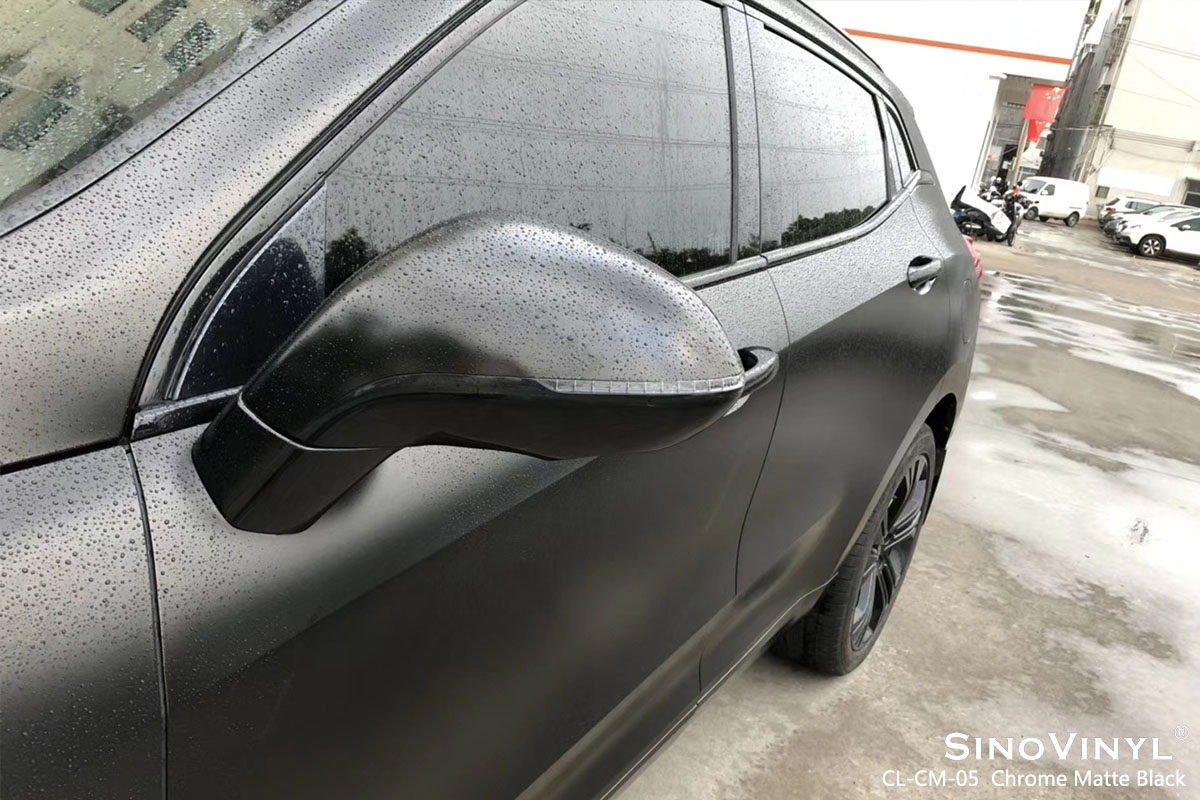 CL-CM-05 Chrome Matte Black car wrap vinyl for WEY