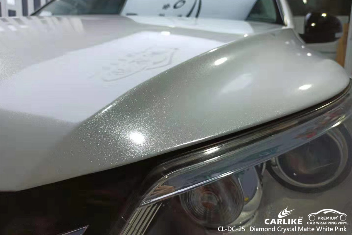 Cl Dc 25 Diamond Crystal Matte White Pink Car Wrapping For Volkswagen Djibouti Sino Vinyl