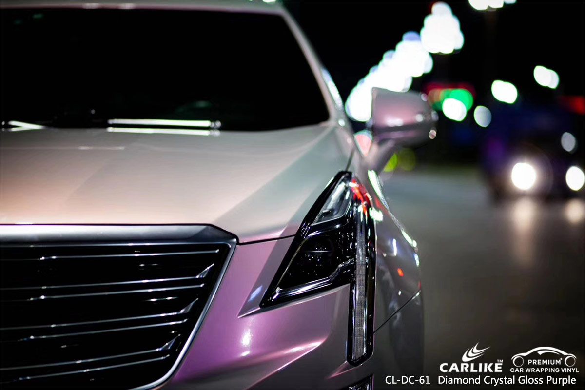 CL-DC-61 diamond crystal gloss purple car foil wrap for CADILLAC St. Vincent & Grenadines