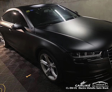 CL-EM-01 электро-металлик сатин черный автомобильный винил для AUDI Лаос