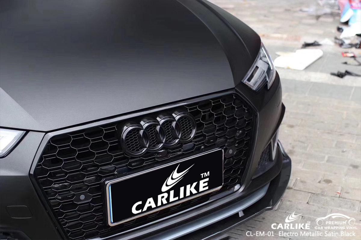 CL-EM-01 electro metallic satin black car wrap vinyl for AUDI