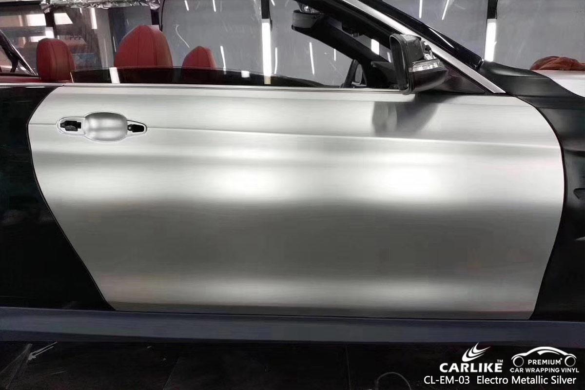 CL-EM-03 electro metallic silver car wrap vinyl for BMW