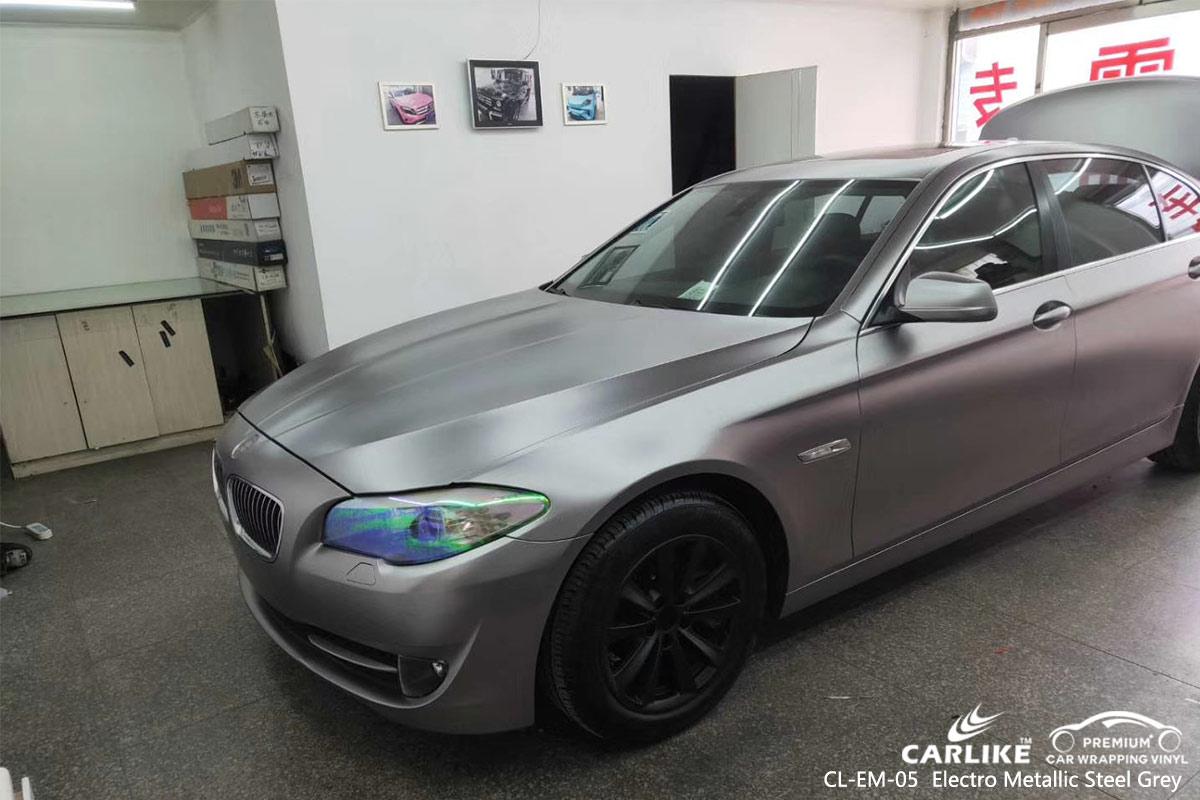 CL-EM-05 electro metallic steel grey car wrap vinyl for BMW