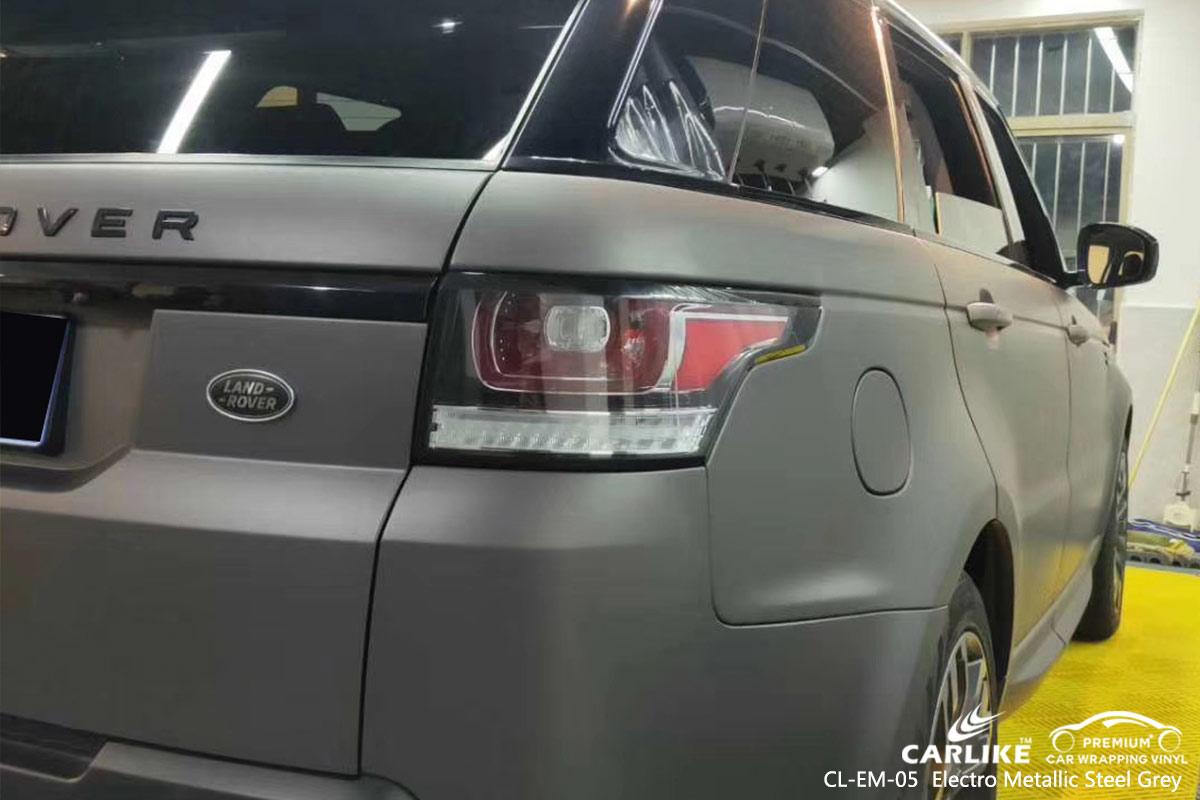 CL-EM-05 electro metallic steel grey car wrap vinyl for LAND ROVER