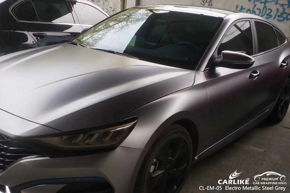 CL-EM-05 electro metallic steel grey car wrap vinyl