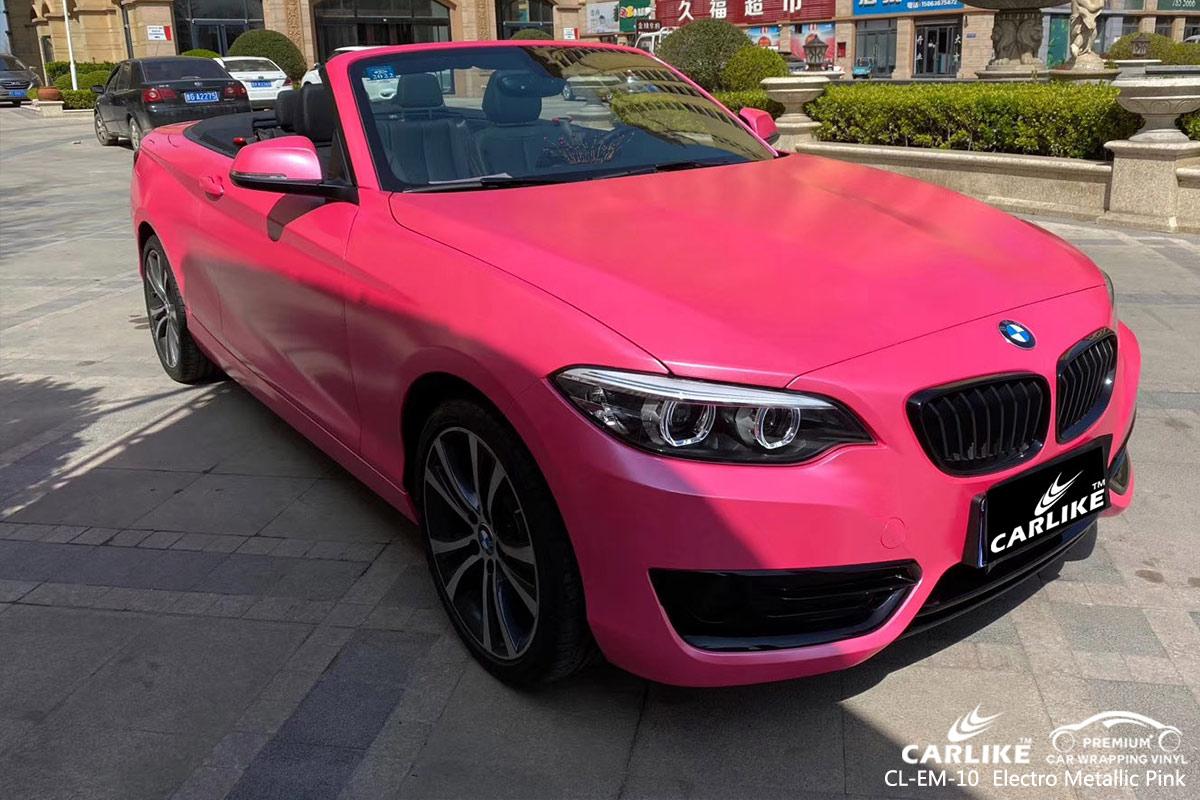 CL-EM-10 electro metallic pink car wrap vinyl for  BMW