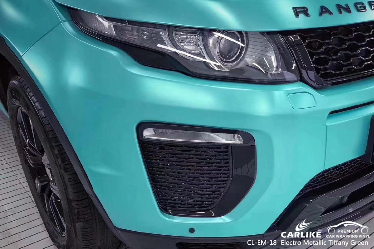 CL-EM-18 electro metallic tiffany green car wrap vinyl for LAND ROVER