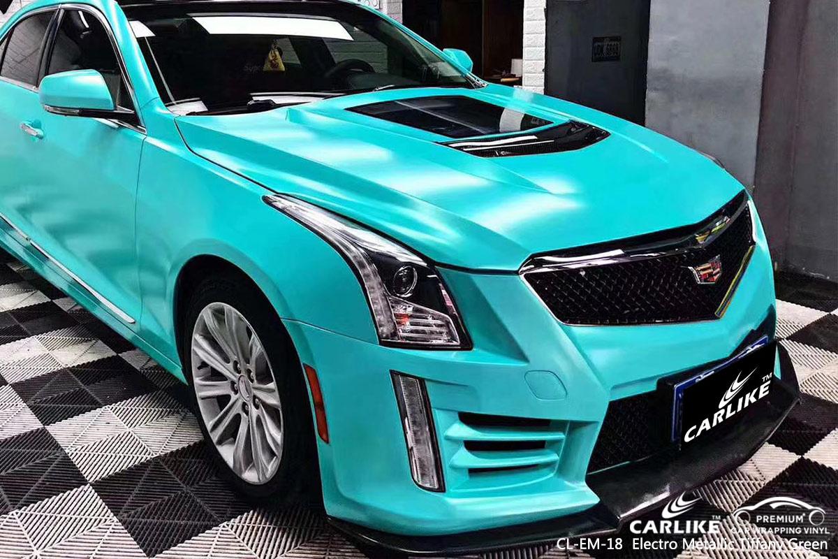 CL-EM-18 electro metallic tiffany green car wrap vinyl for CADILLAC