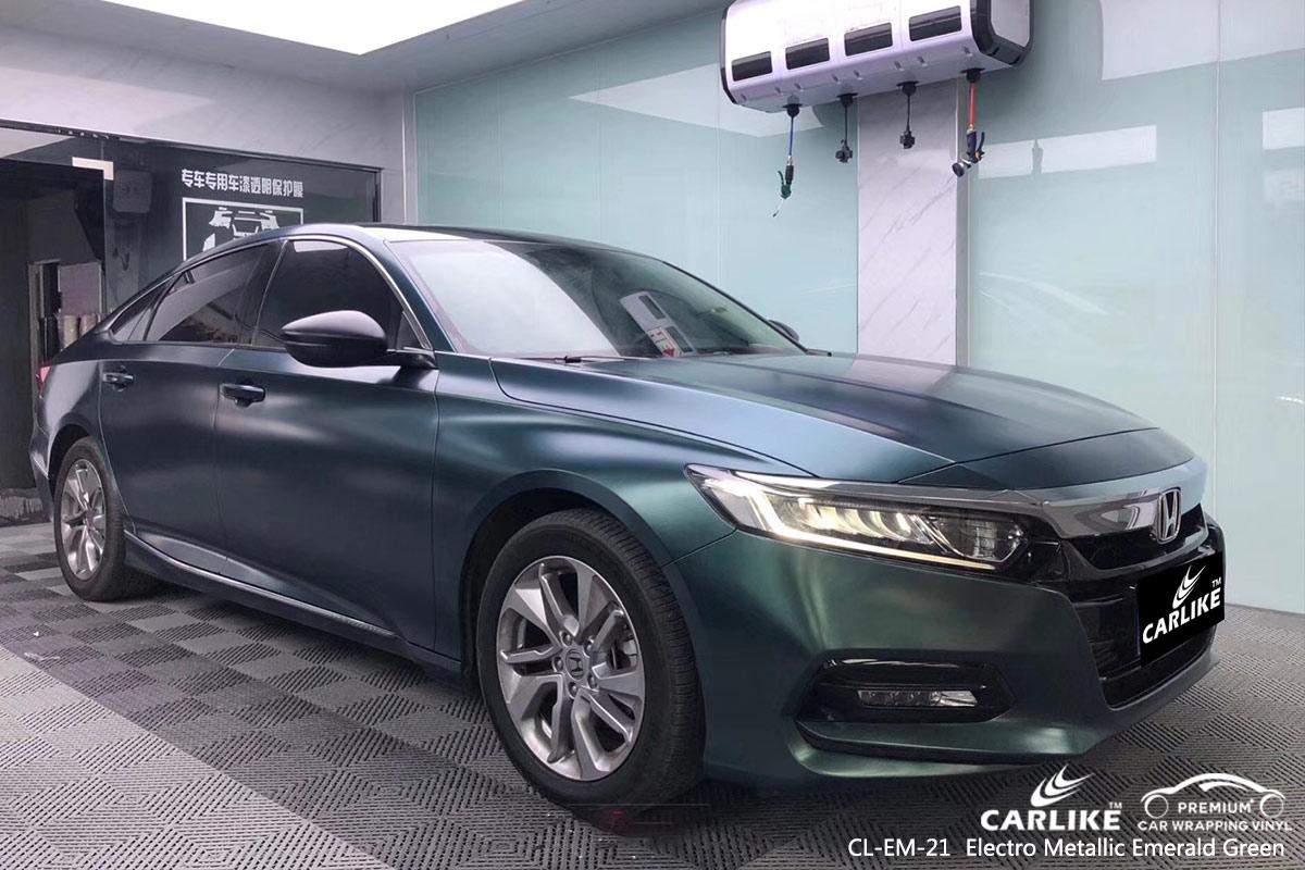 CL-EM-21 electro metallic emerald green car wrap vinyl for HONDA