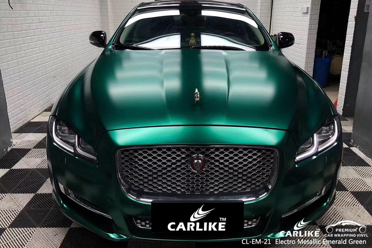 CL-EM-21 electro metallic emerald green car wrap vinyl for JAGUAR