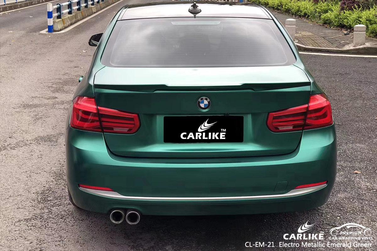 CL-EM-21 electro metallic emerald green car wrap vinyl for BMW