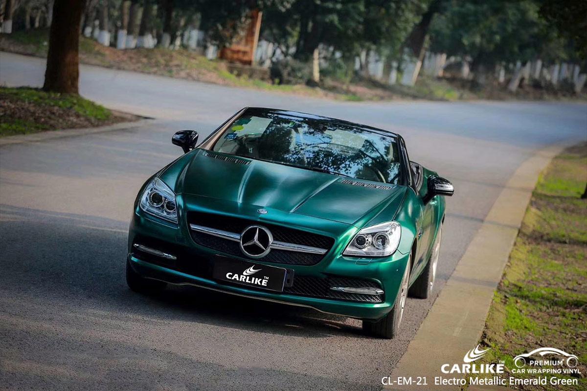 CL-EM-21 electro metallic emerald green car wrap vinyl for MERCEDES-BENZ