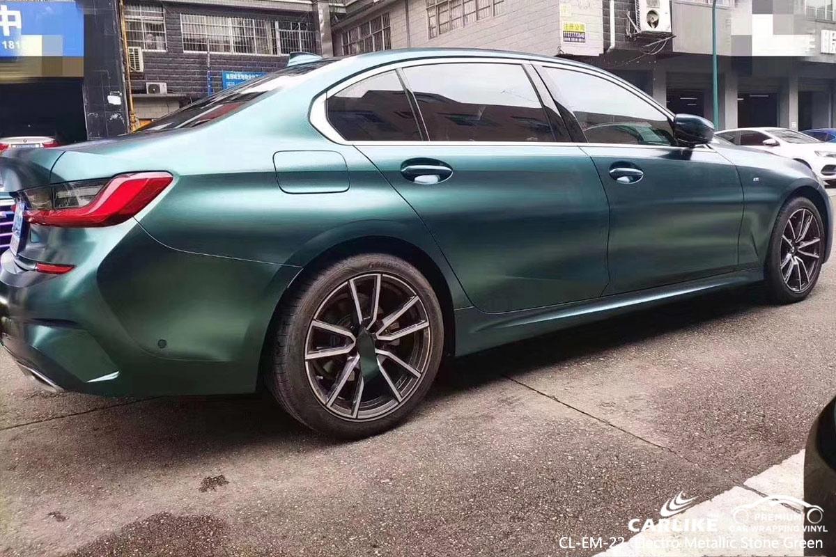 CL-EM-22 electro metallic stone green car wrap vinyl for BMW