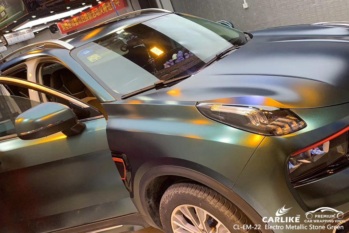 CL-EM-22 electro metallic stone green car wrap vinyl for LYNK&CO