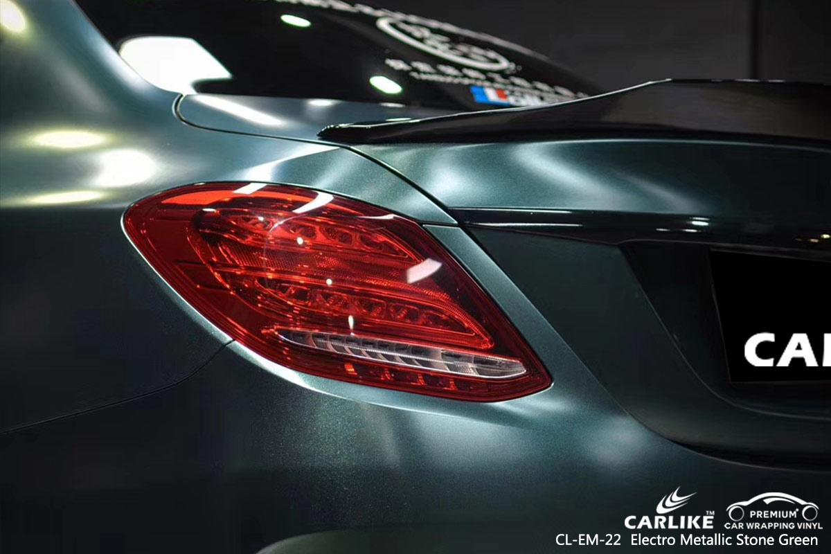 CL-EM-22 electro metallic stone green car wrap vinyl for MERCEDES-BENZ