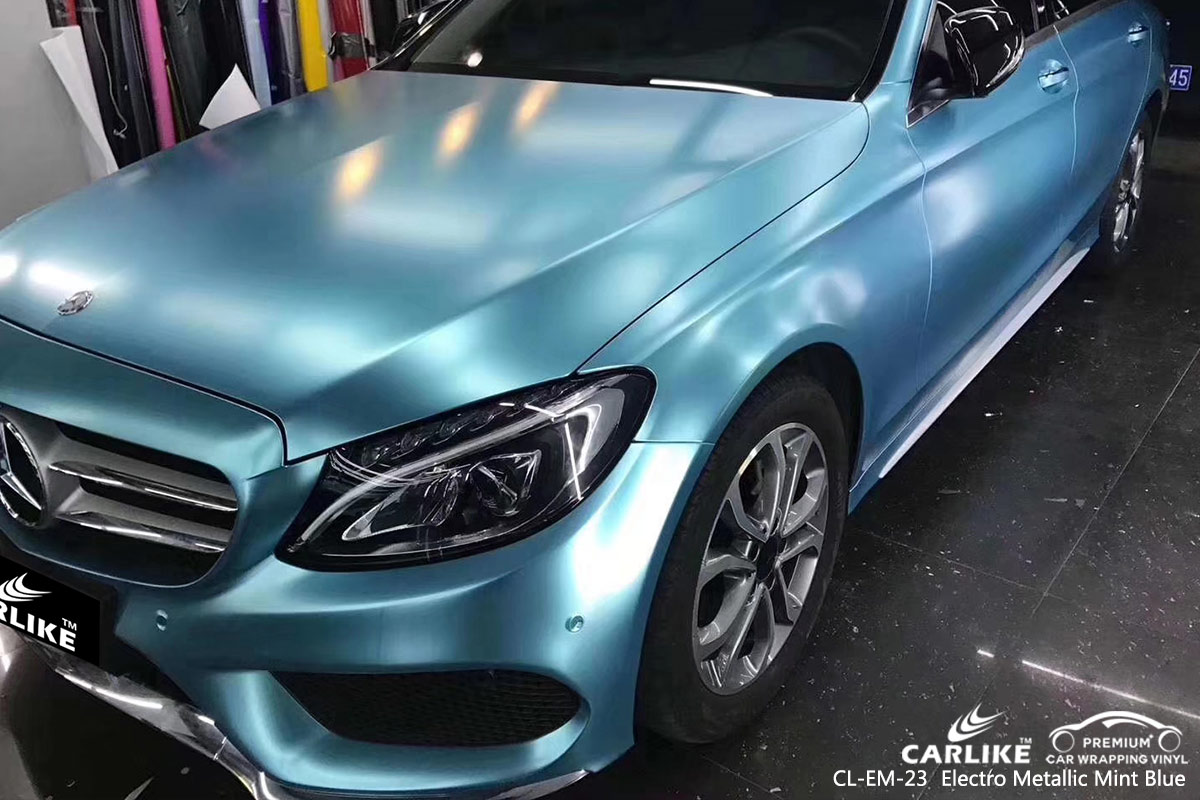 CL-EM-23 ELECTRO METALLIC MINT BLUE CAR WRAP VINYL for MERCEDES-BENZ