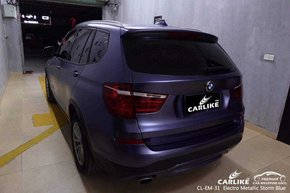CL-EM-31 electro metallic storm blue car wrap vinyl for BMW