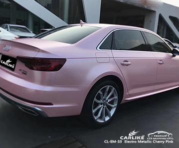 Vinile avvolgente automobilistico elettro metallizzato rosa ciliegia CL-EM-33 per AUDI Mexico