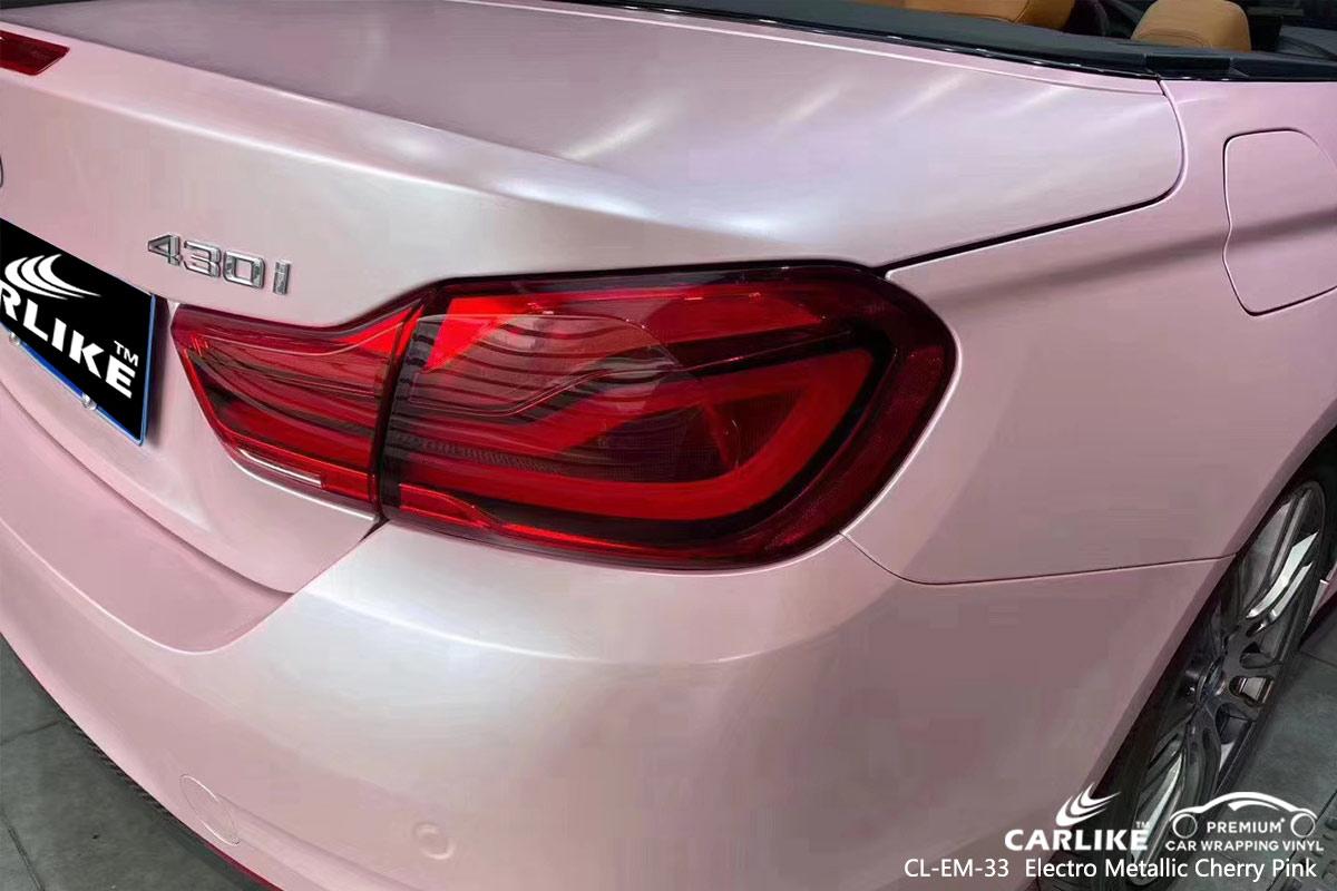 CL-EM-33 electro metallic cherry pink car wrap vinyl for BMW