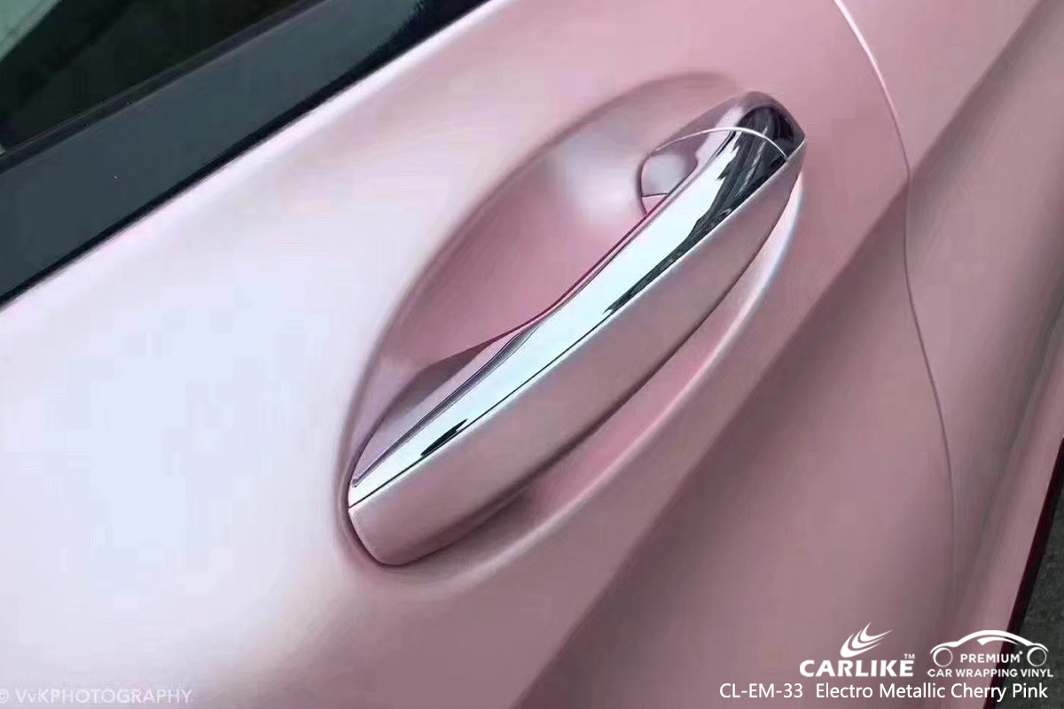 CL-EM-33 electro metallic cherry pink car wrap vinyl for MERCEDES-BENZ