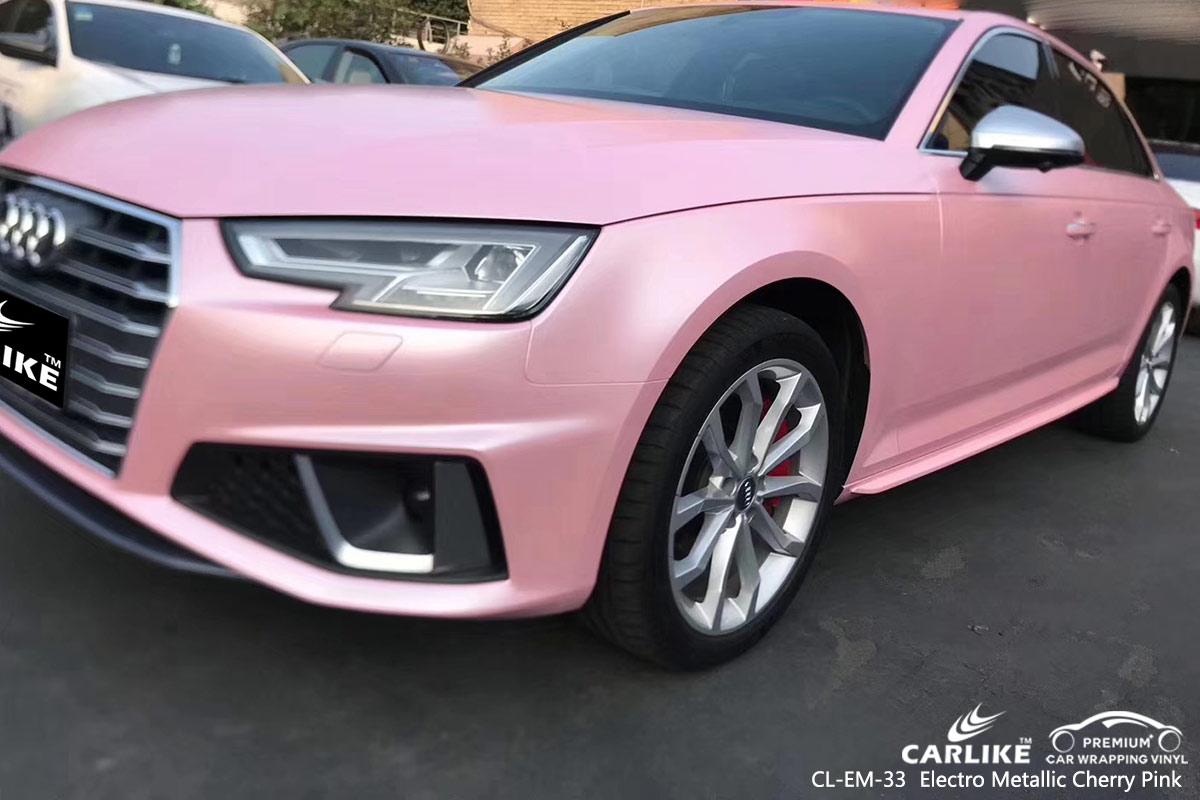 CL-EM-33 electro metallic cherry pink car wrap vinyl for AUDI