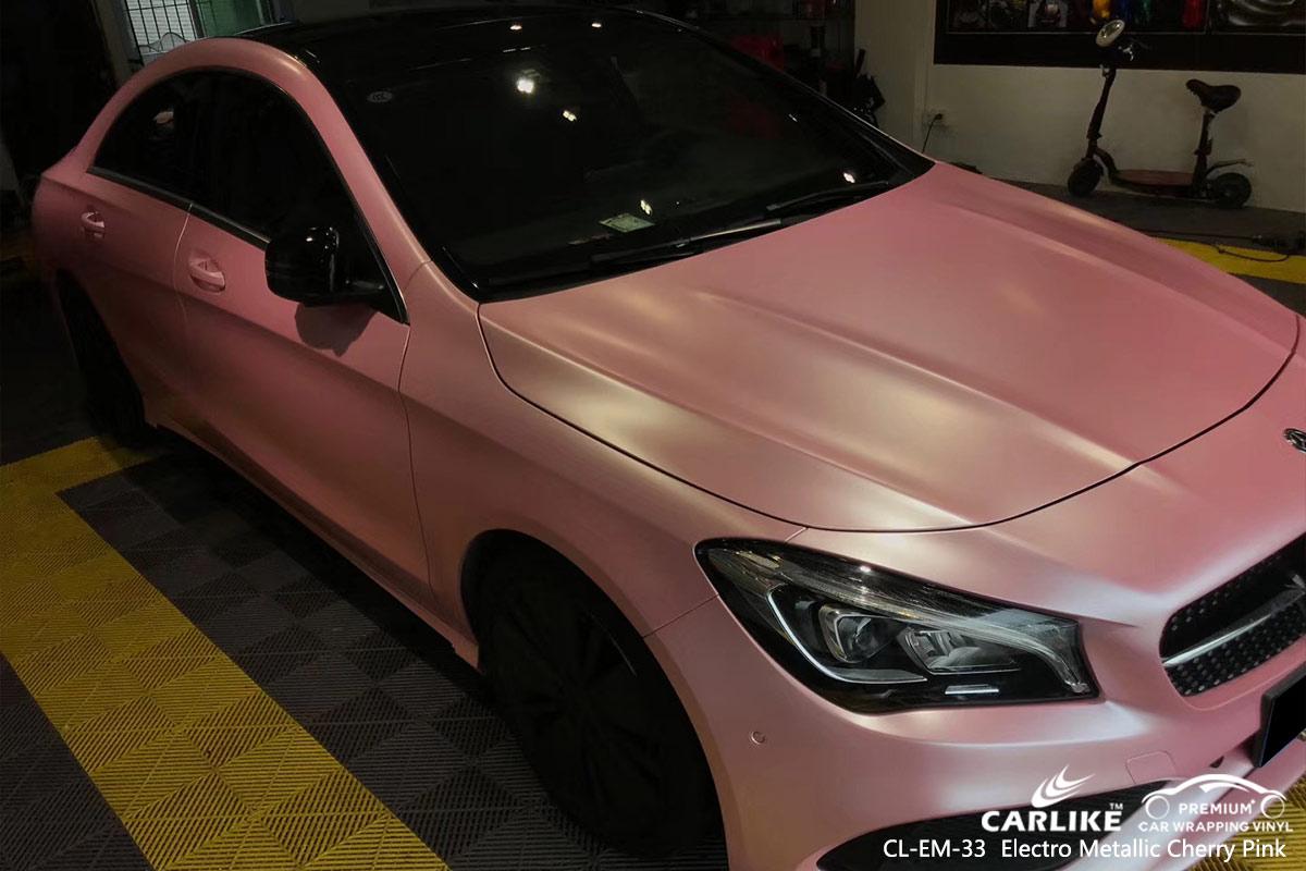 CL-EM-33 electro metallic cherry pink car wrap vinyl for MERCEDES-BENZ