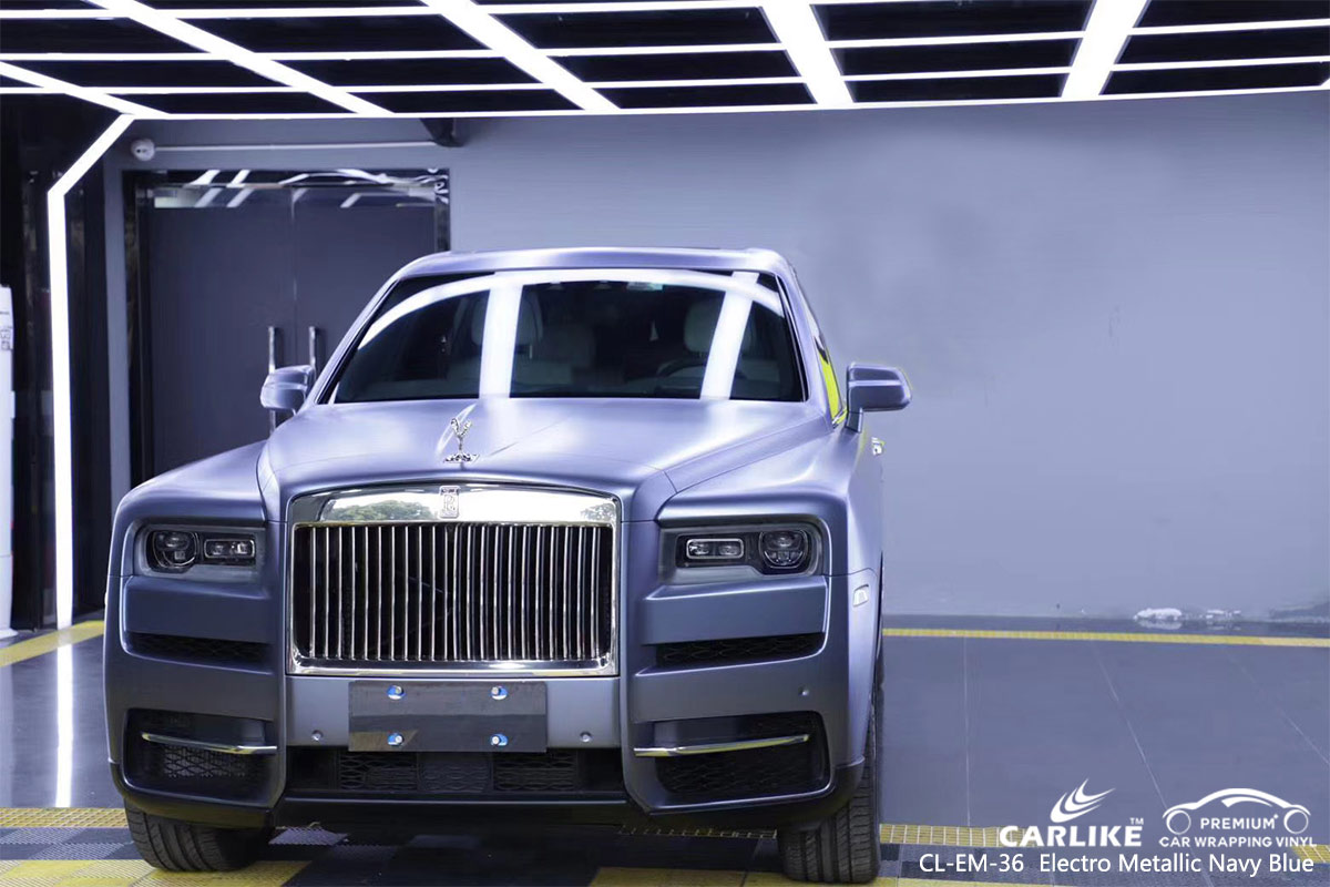 CL-EM-36 electro metallic navy blue car wrap vinyl for  ROLLS ROYCE