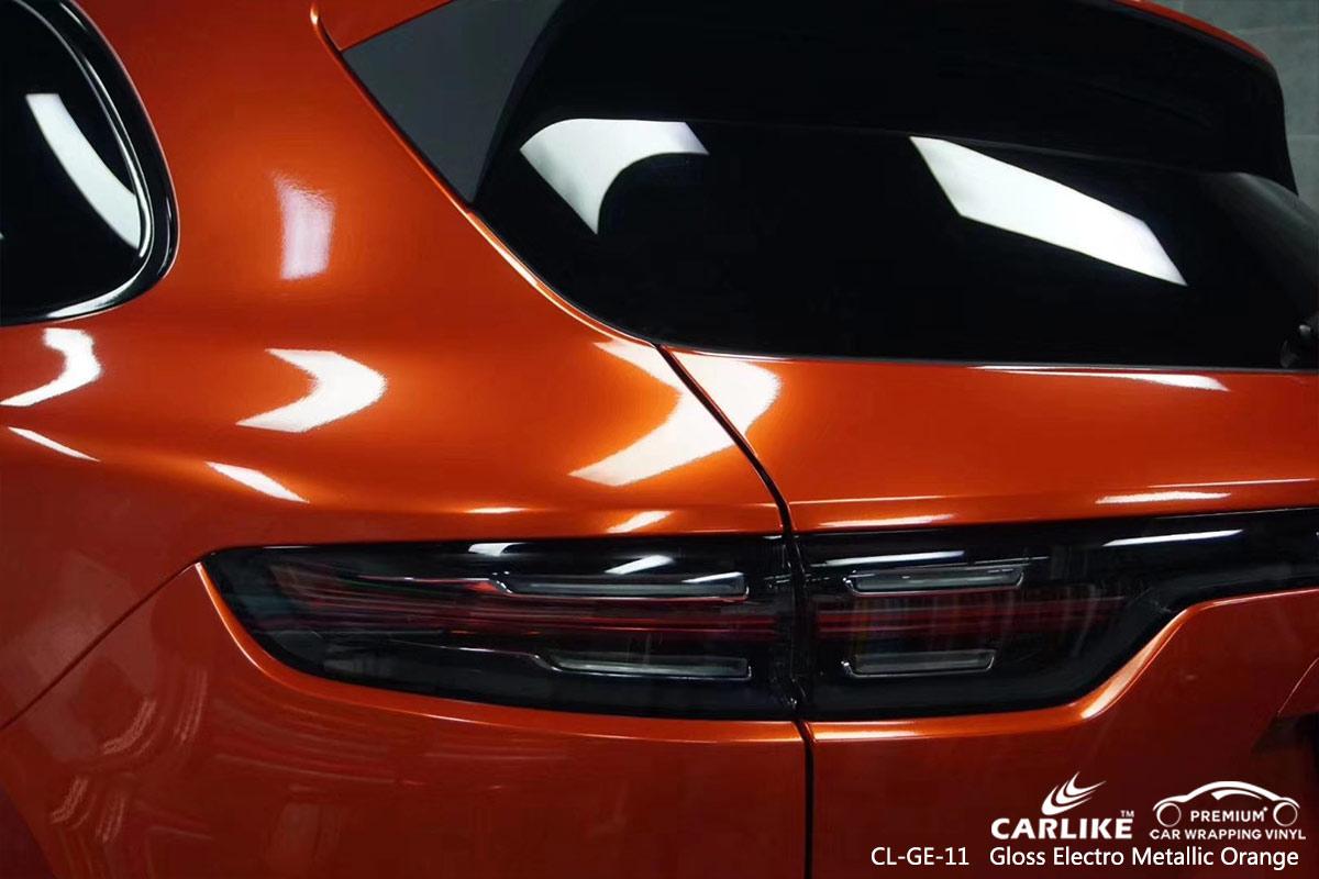 CL-GE-11 gloss electro metallic orange car wrap film for PORSCHE Liechtenstein