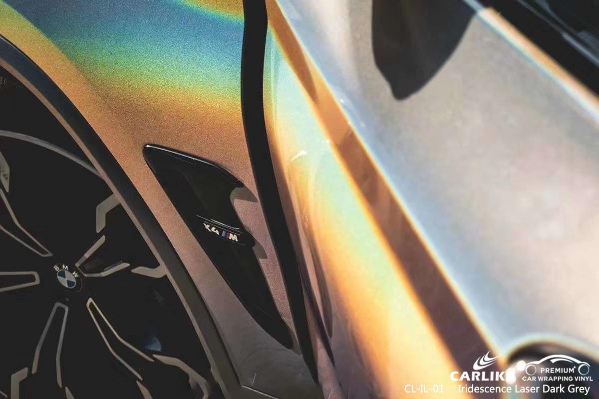 CL-IL-01 iridescence laser dark grey vinyl wrap my car for BMW Réunion