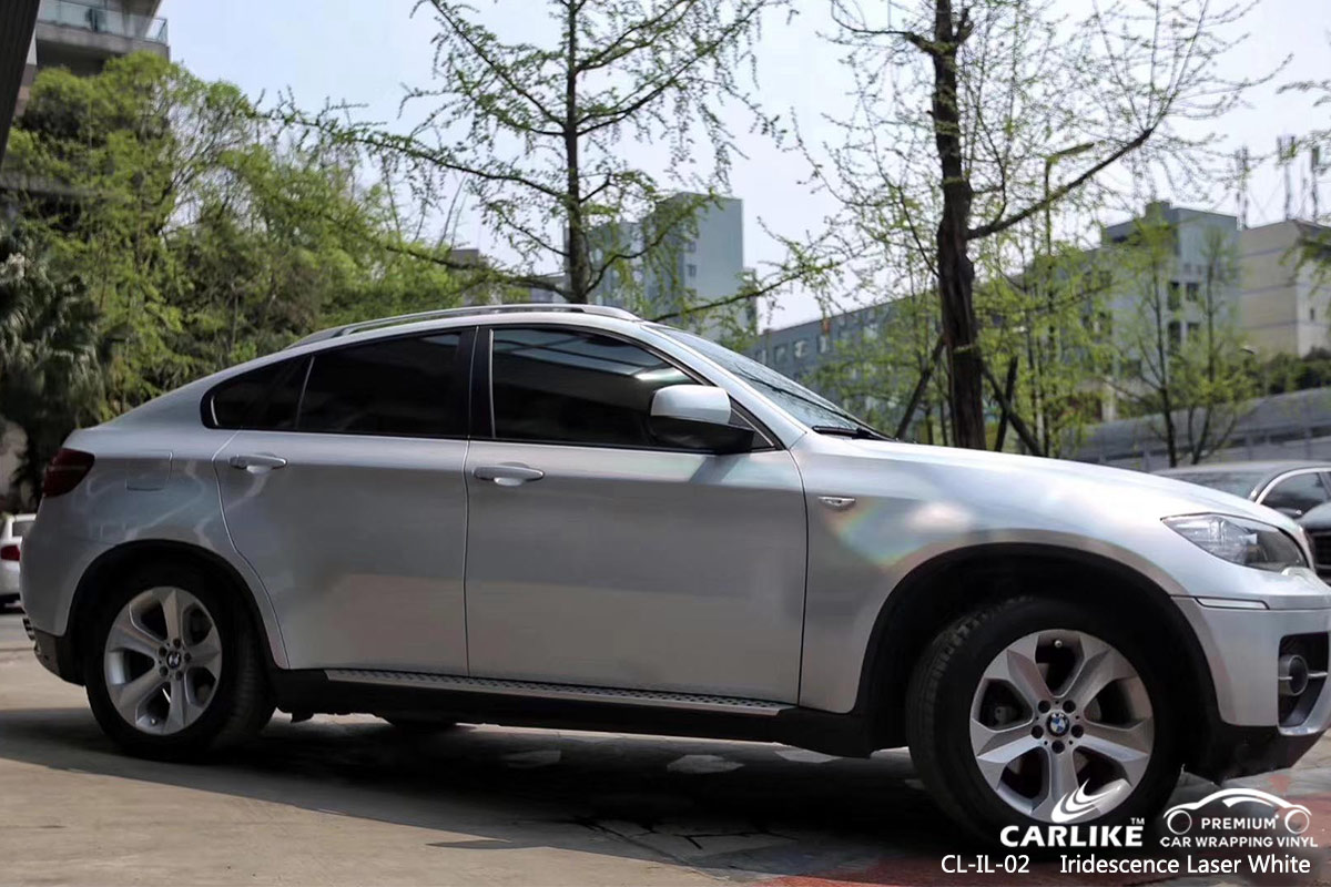 CL-IL-02 iridescence laser white vehicle wrapping vinyl for BMW American Samoa