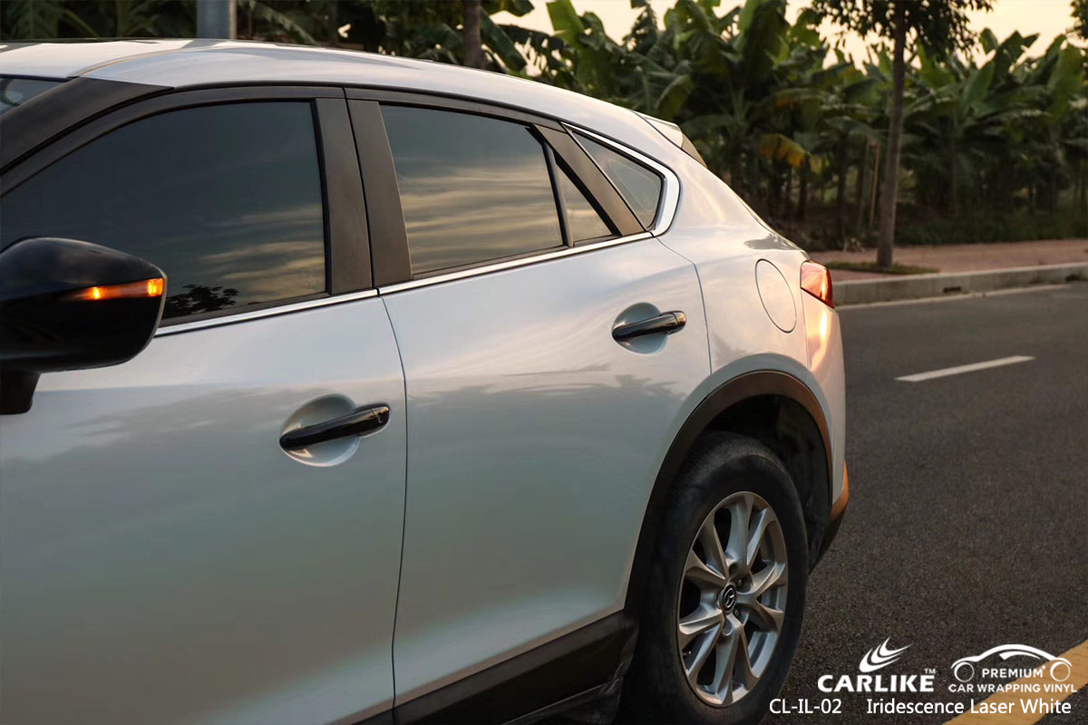 CL-IL-02 iridescence laser white car vehicle vinyl wrap for MAZDA Caribbean Netherlands