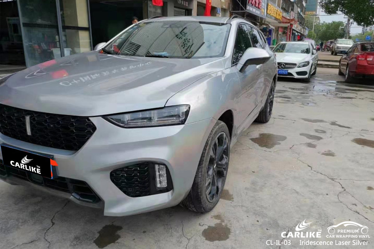 CL-IL-03 iridescence laser silver car wrapping foil for WEY Mali