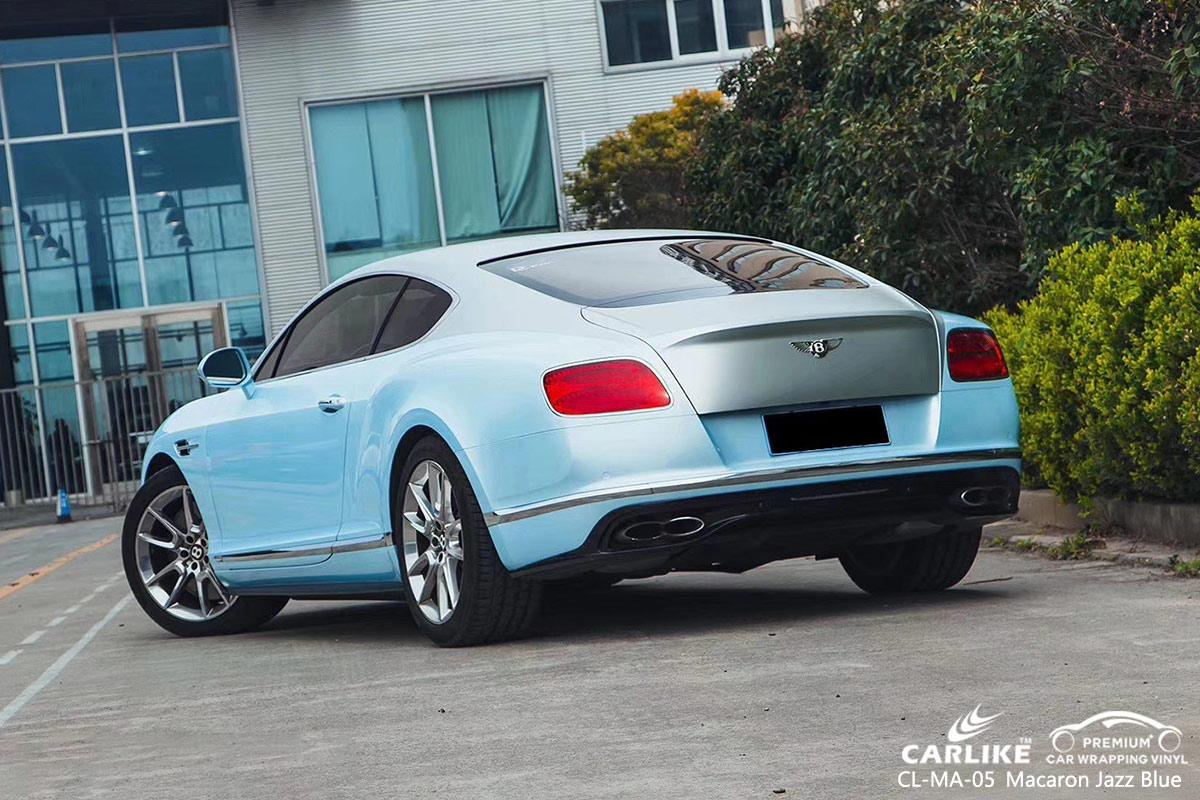 CL-MA-05 macaron jazz blue body wrap car supplier for BENTLEY Anguilla