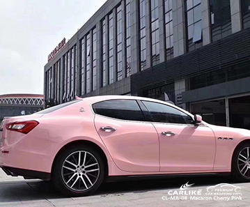 CL-MA-08 macaron cherry pink car wrap film for MASERATI Togo