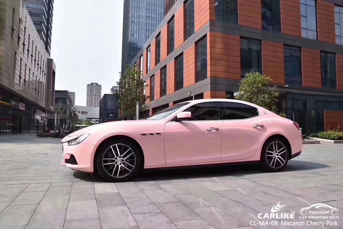 CL-MA-08 macaron cherry pink car wrap film for MASERATI Togo