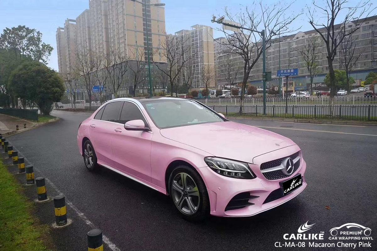 CL-MA-08 macaron cherry pink car vinyl wrap gloss for MERCEDES-BENZ Burkina Faso