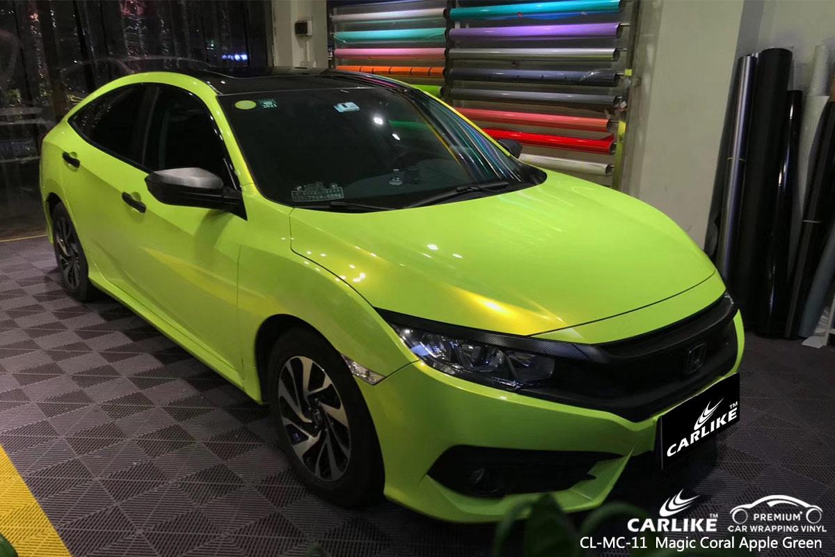 CL-MC-11 magic coral apple green car wrap vinyl for HONDA