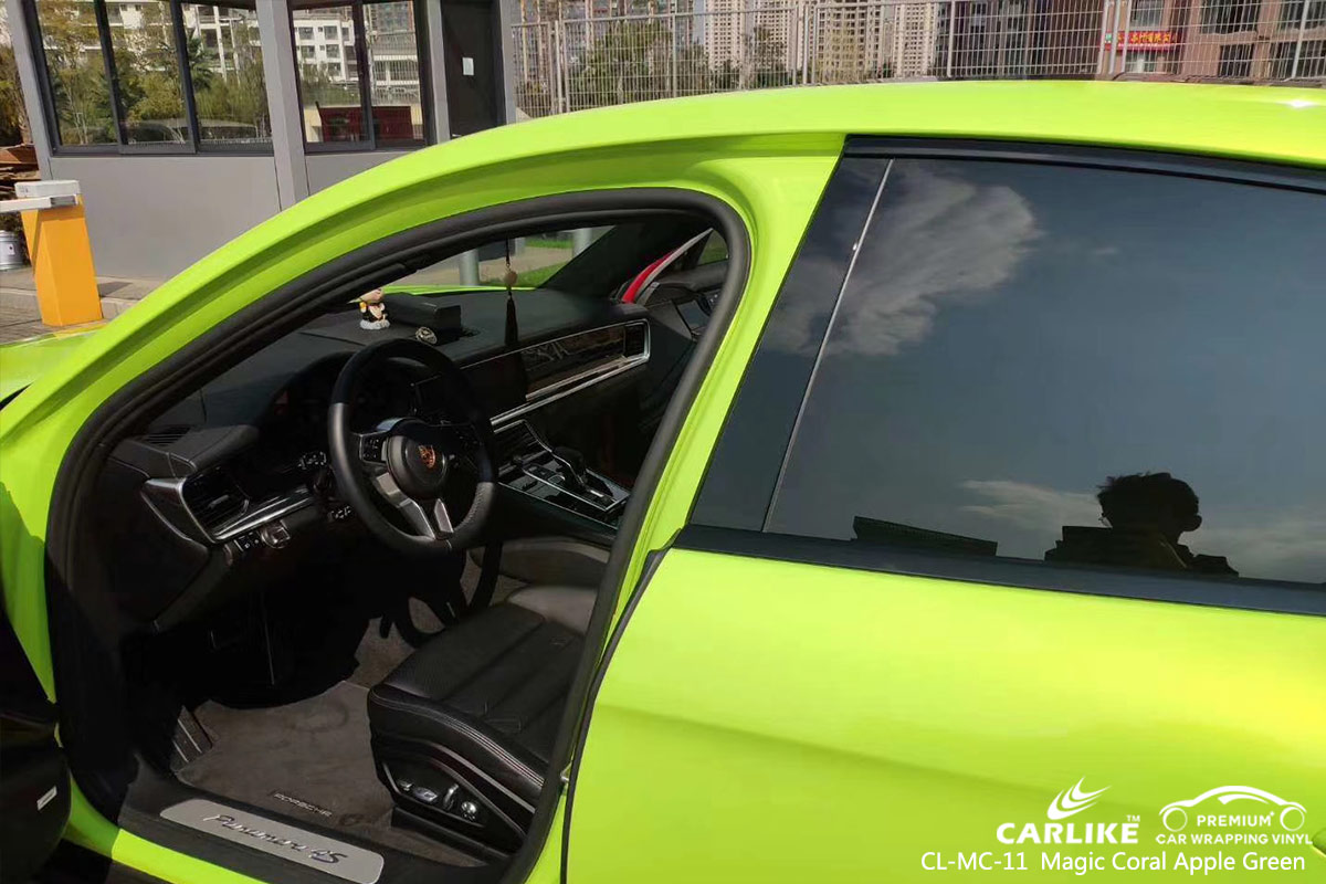CL-MC-11 magic coral apple green car wrap vinyl for PORSCHE