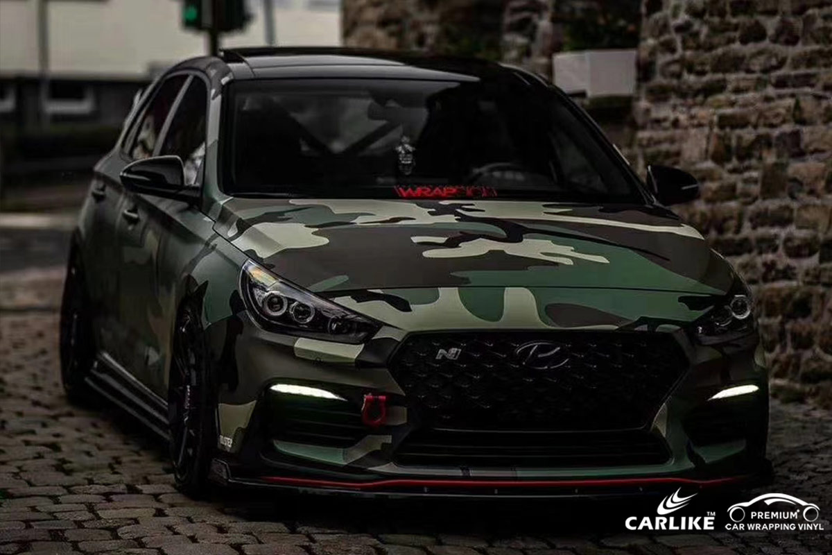 CL-CA-03 forest camouflage car wrap vinyl for BEIJING HYUNDAI