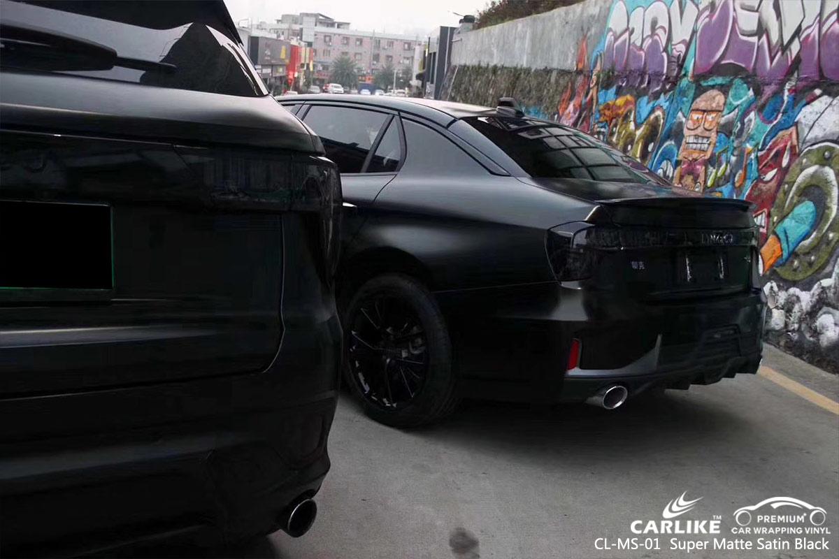 CL-MS-01 super matte satin black car wrap vinyl for LYNK&CO