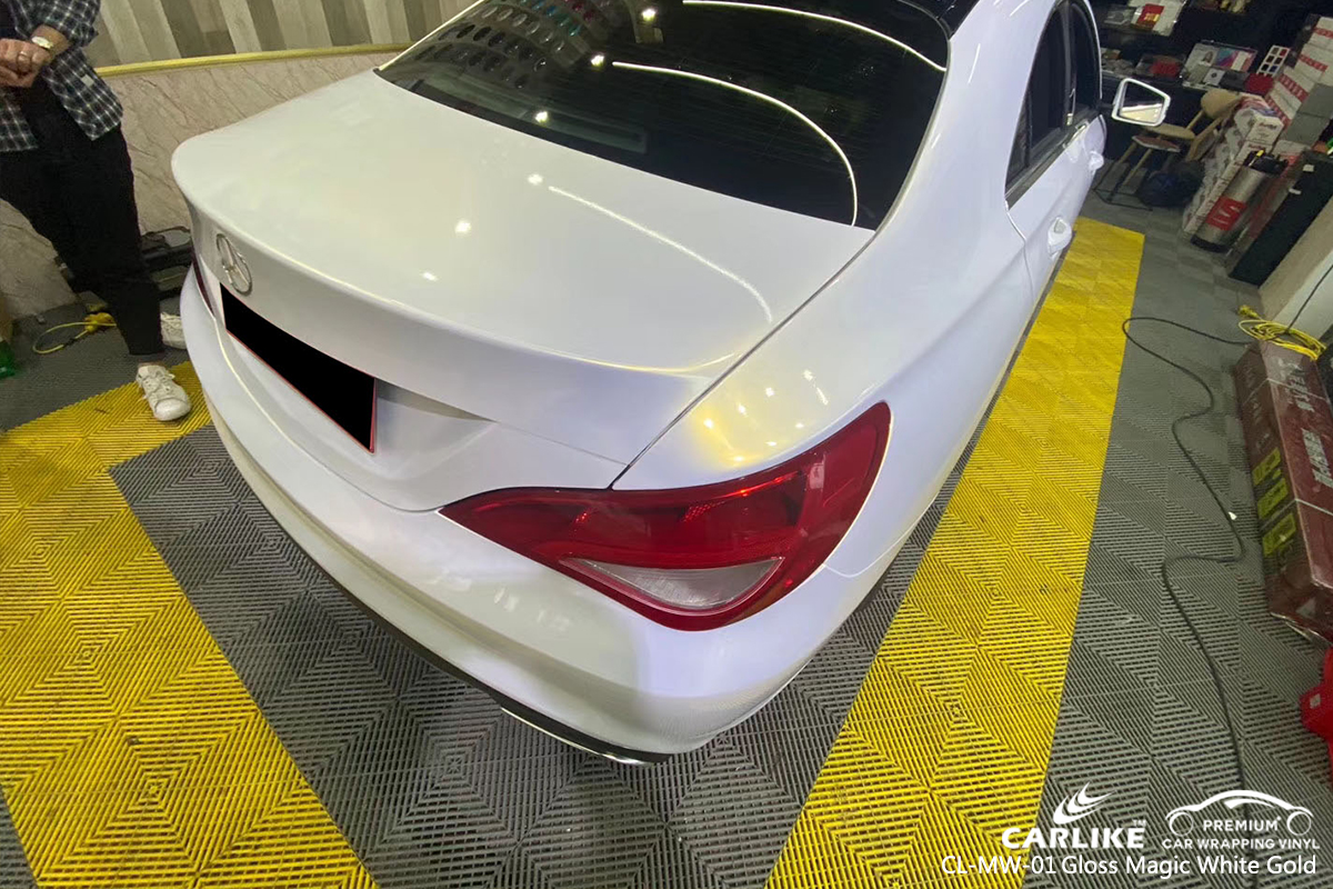 CL-MW-01 gloss magic white to gold car wrap gloss for MERCEDES-BENZ Central African Republic